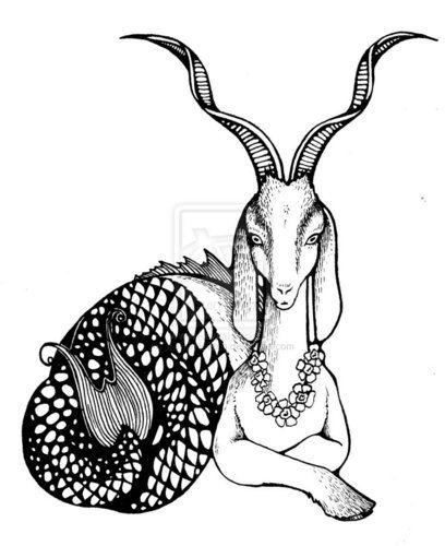 Capricorn Zodiac Horoscope Tattoos (174)