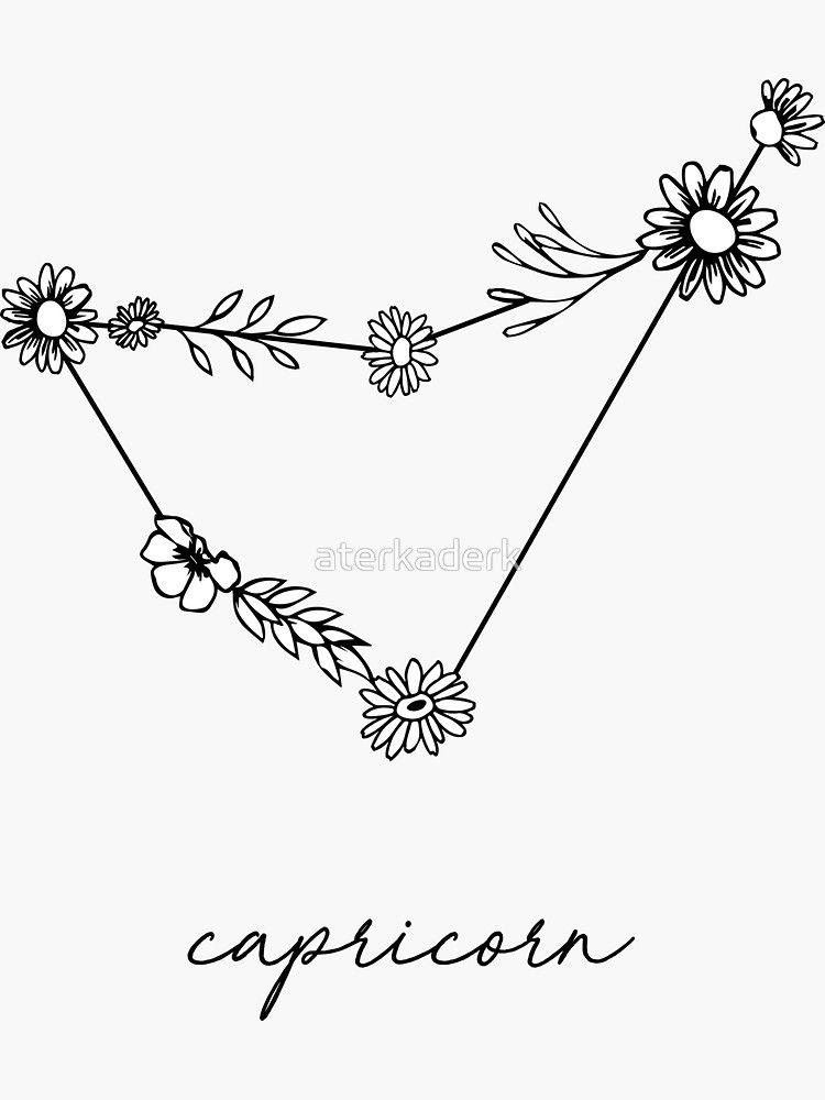 Capricorn Zodiac Horoscope Tattoos (182)