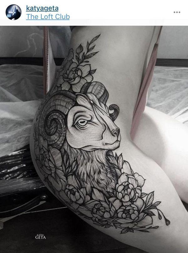 Capricorn Zodiac Horoscope Tattoos (189)