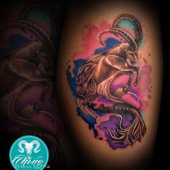 Capricorn Zodiac Horoscope Tattoos (40)