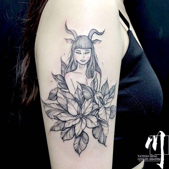 Capricorn Zodiac Horoscope Tattoos (44)
