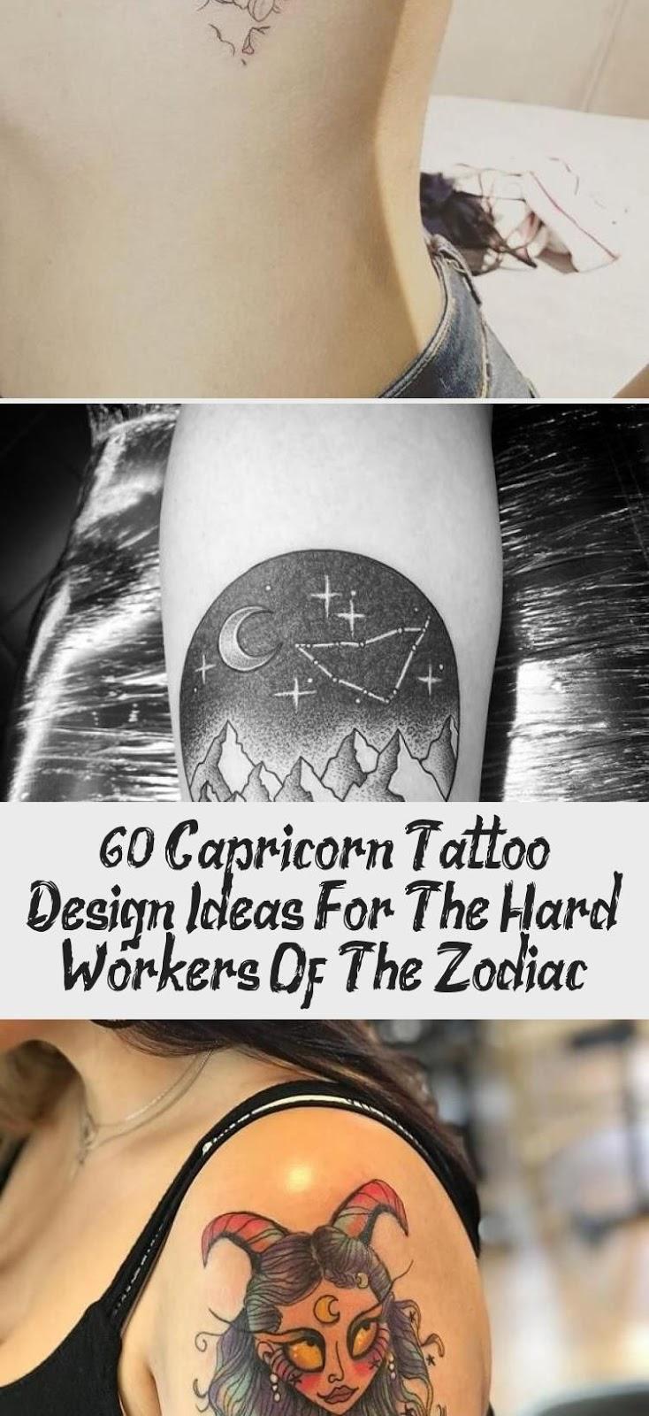 Capricorn Zodiac Horoscope Tattoos (70)