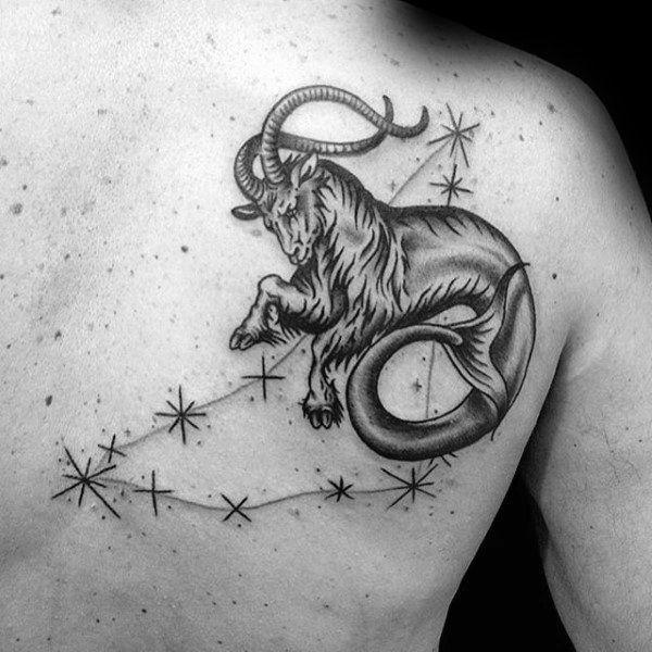 Capricorn Zodiac Horoscope Tattoos (90)