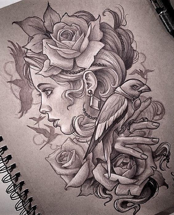 Virgo Zodiac Horoscope Tattoo Designs (100)