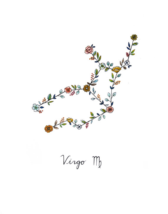 Virgo Zodiac Horoscope Tattoo Designs (102)
