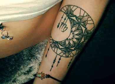 Virgo Zodiac Horoscope Tattoo Designs (109)