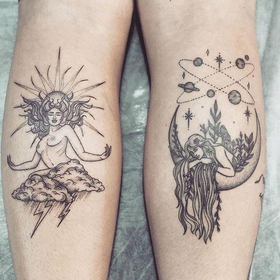 Virgo Zodiac Horoscope Tattoo Designs (110)