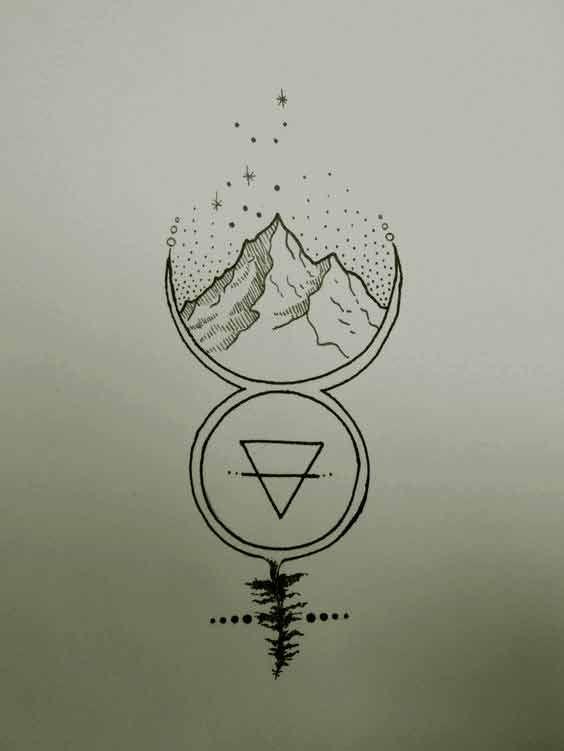 Virgo Zodiac Horoscope Tattoo Designs (113)