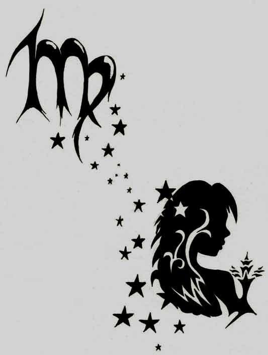 Virgo Zodiac Horoscope Tattoo Designs (114)