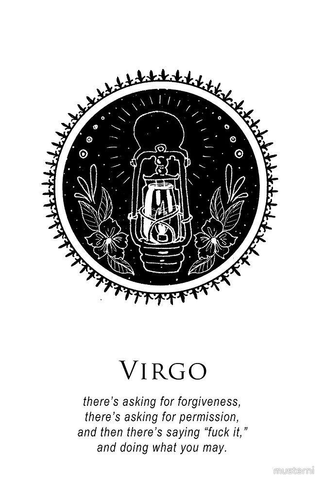 Virgo Zodiac Horoscope Tattoo Designs (121)