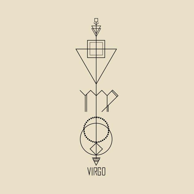 Virgo Zodiac Horoscope Tattoo Designs (132)
