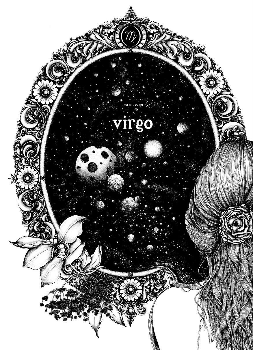 Virgo Zodiac Horoscope Tattoo Designs (138)