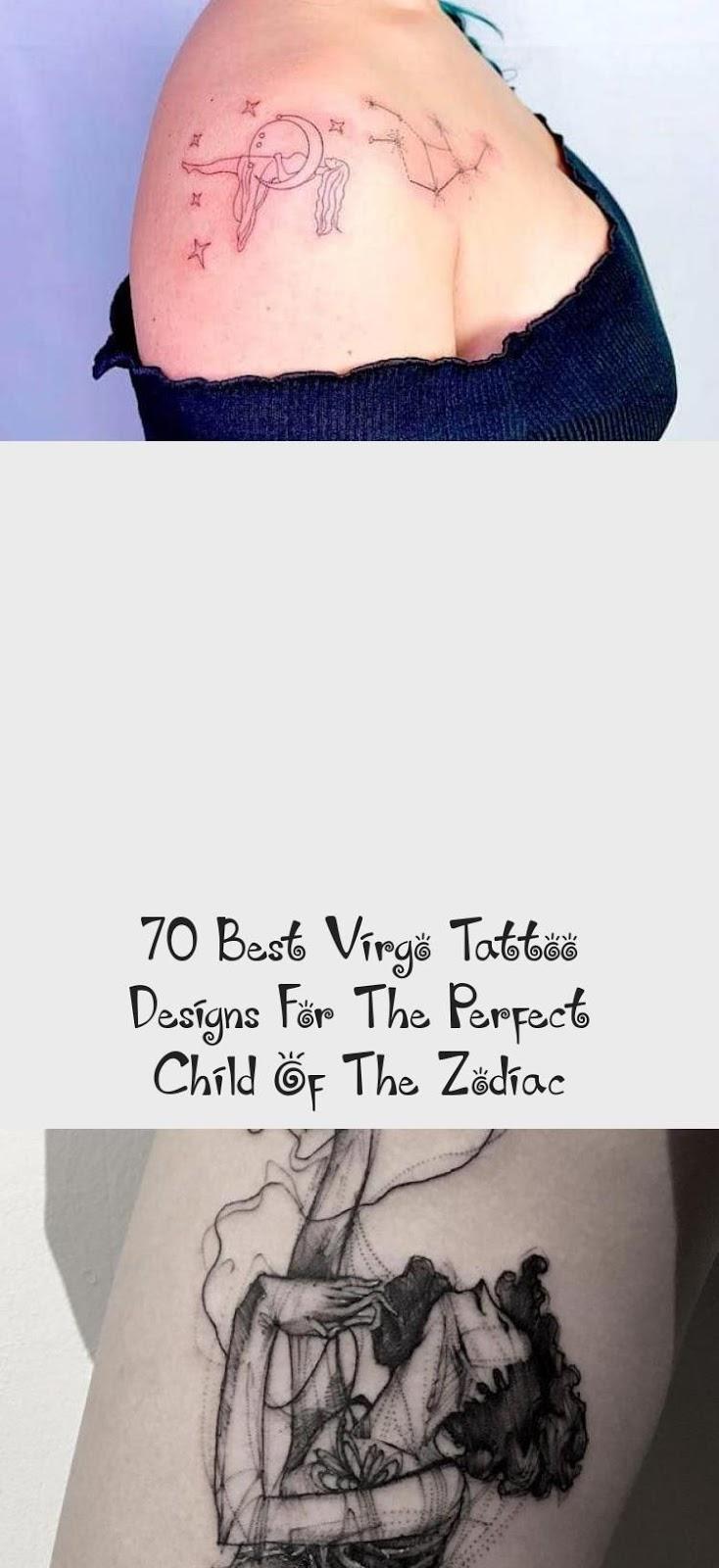 Virgo Zodiac Horoscope Tattoo Designs (143)