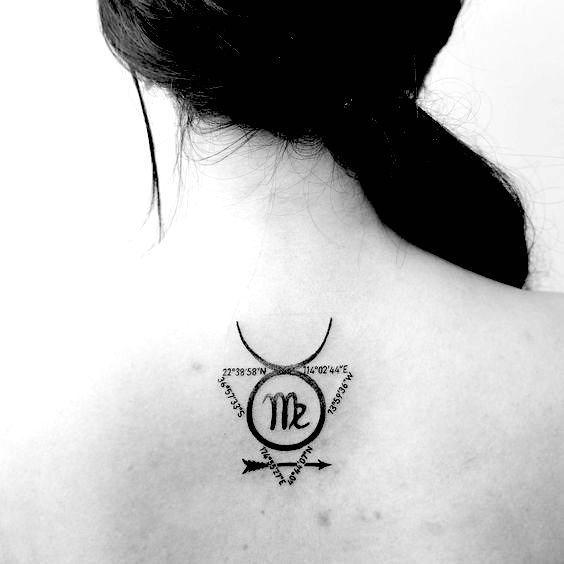Virgo Zodiac Horoscope Tattoo Designs (144)