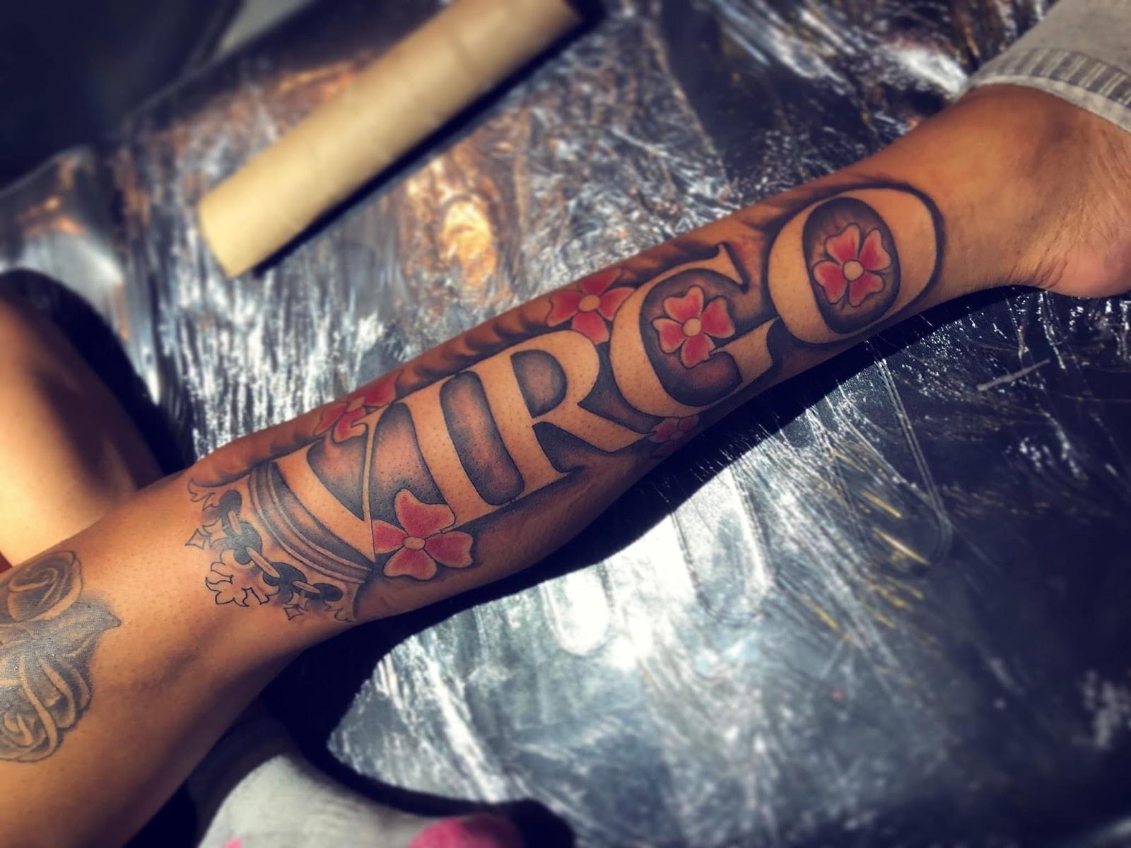 Virgo Zodiac Horoscope Tattoo Designs (146)