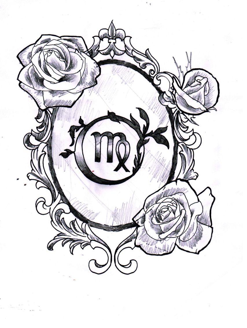 Virgo Zodiac Horoscope Tattoo Designs (147)