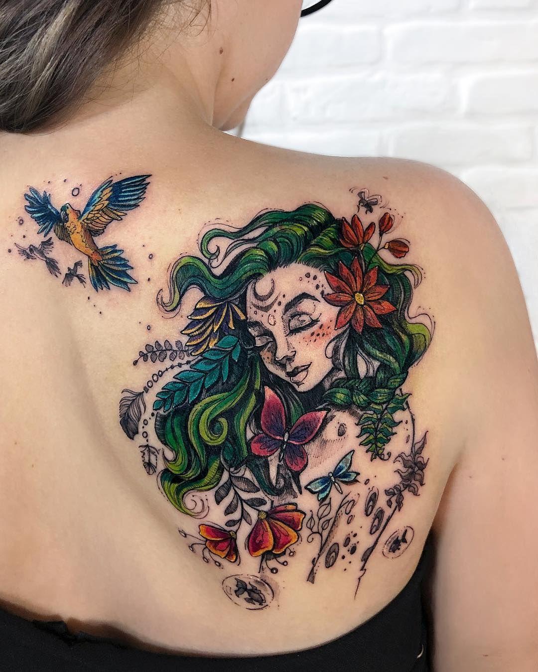 Virgo Zodiac Horoscope Tattoo Designs (149)