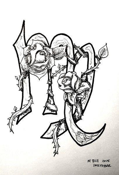 Virgo Zodiac Horoscope Tattoo Designs (157)