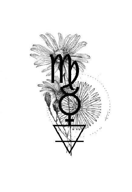 Virgo Zodiac Horoscope Tattoo Designs (166)