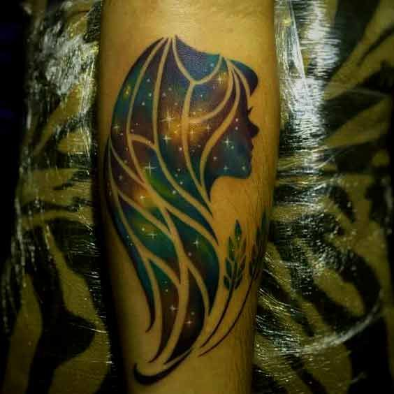 Virgo Zodiac Horoscope Tattoo Designs (177)