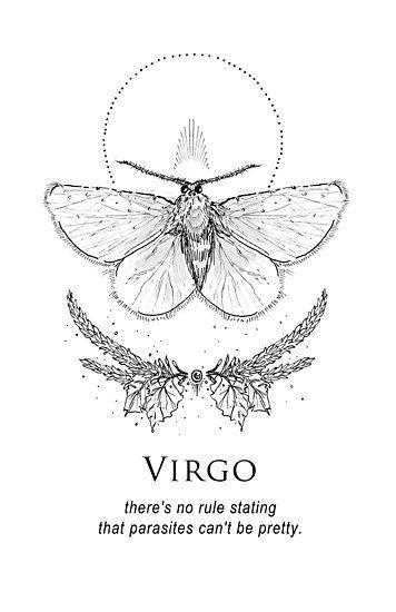 Virgo Zodiac Horoscope Tattoo Designs (183)