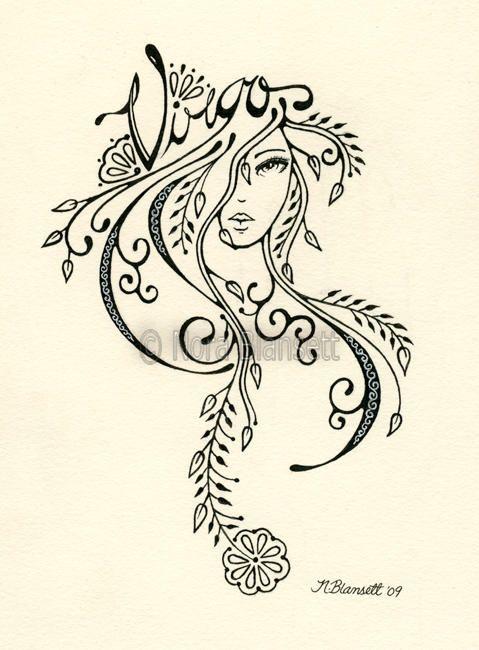 Virgo Zodiac Horoscope Tattoo Designs (184)