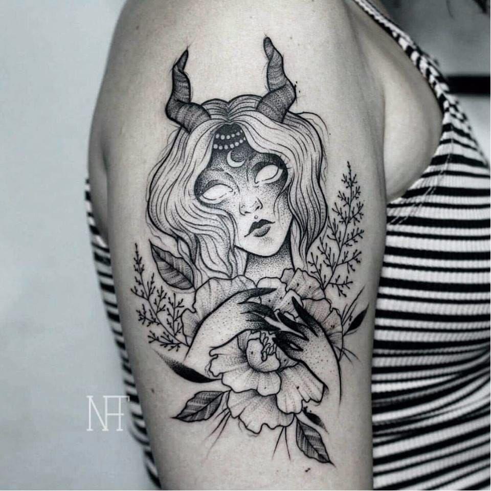 Virgo Zodiac Horoscope Tattoo Designs (202)