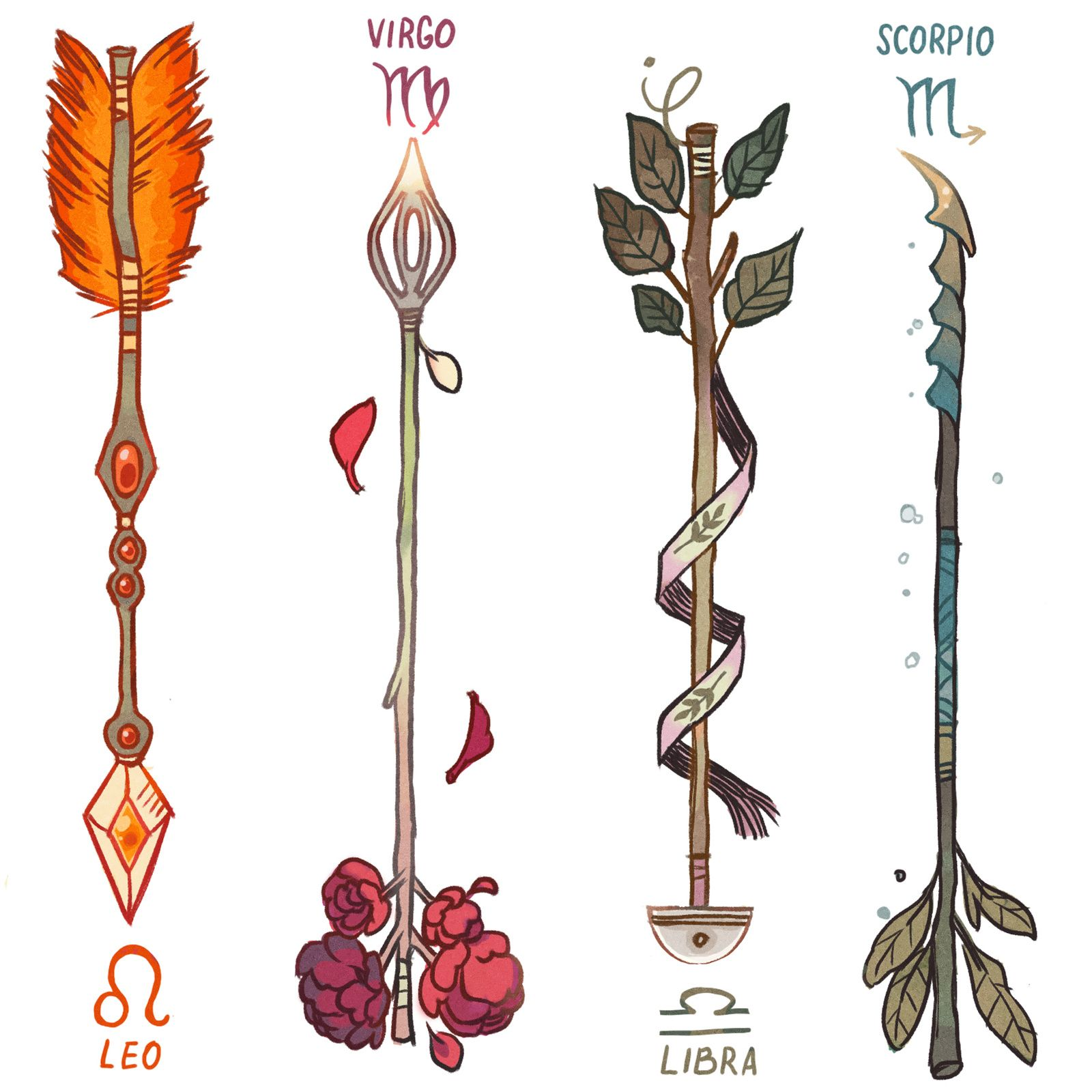 Virgo Zodiac Horoscope Tattoo Designs (206)
