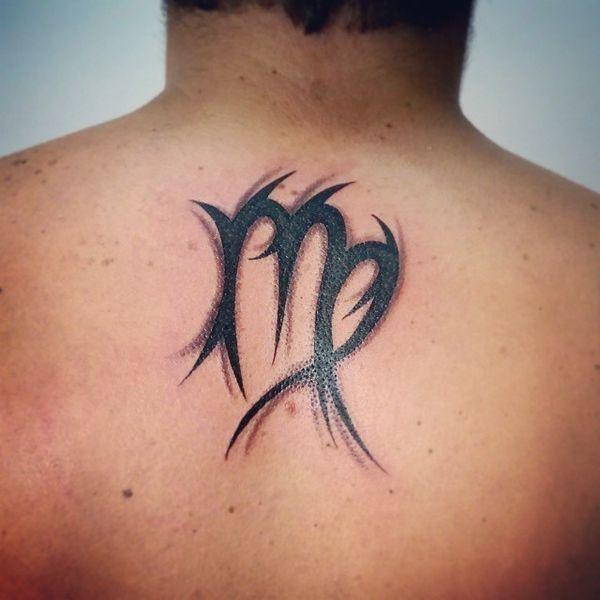 Virgo Zodiac Horoscope Tattoo Designs (217)