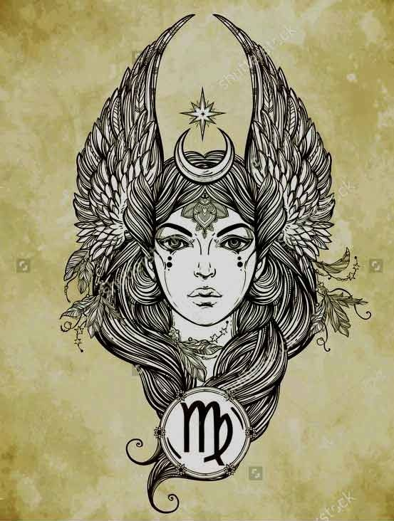 Virgo Zodiac Horoscope Tattoo Designs (45)