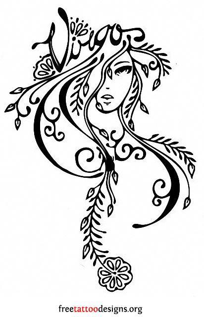 Virgo Zodiac Horoscope Tattoo Designs (66)