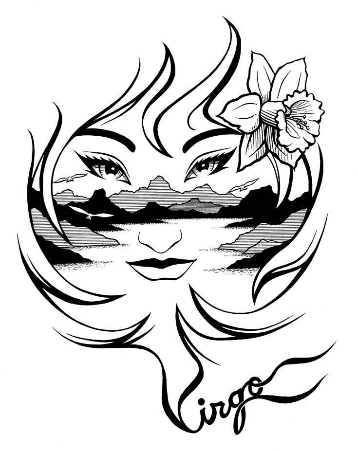 Virgo Zodiac Horoscope Tattoo Designs (67)