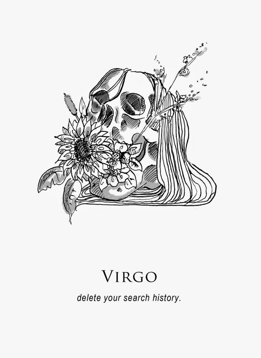 Virgo Zodiac Horoscope Tattoo Designs (72)