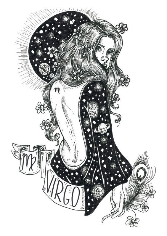 Virgo Zodiac Horoscope Tattoo Designs (73)
