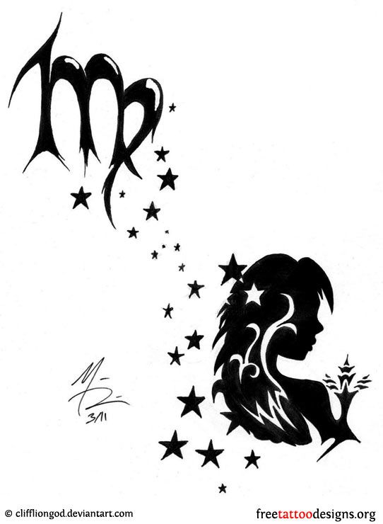 Virgo Zodiac Horoscope Tattoo Designs (76)