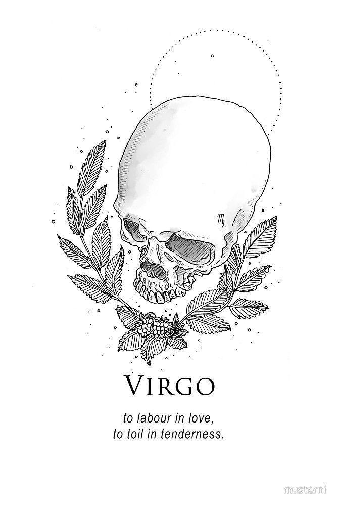 Virgo Zodiac Horoscope Tattoo Designs (82)