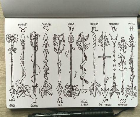 Virgo Zodiac Horoscope Tattoo Designs (94)