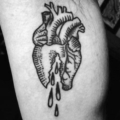 Broken Heart Tattoo Design Meaning (11)