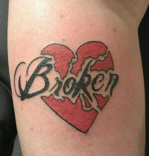 Broken Heart Tattoo Design Meaning (12)