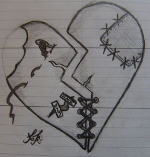 Broken Heart Tattoo Design Meaning (127)