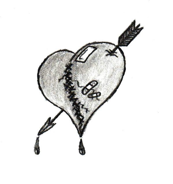 Broken Heart Tattoo Design Meaning (135)