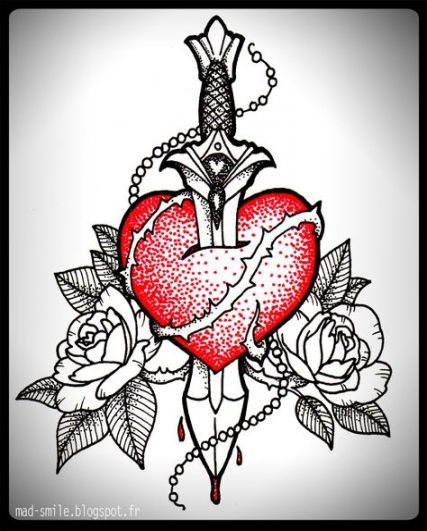 Broken Heart Tattoo Design Meaning (149)