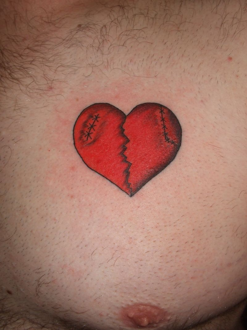 Broken Heart Tattoo Design Meaning (170)