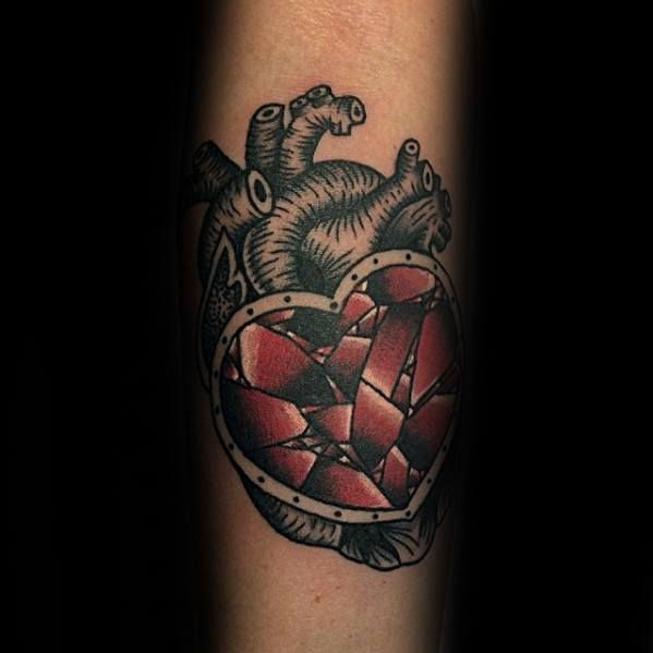 Broken Heart Tattoo Design Meaning (190)