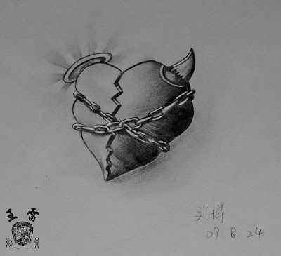 Broken Heart Tattoo Design Meaning (200)