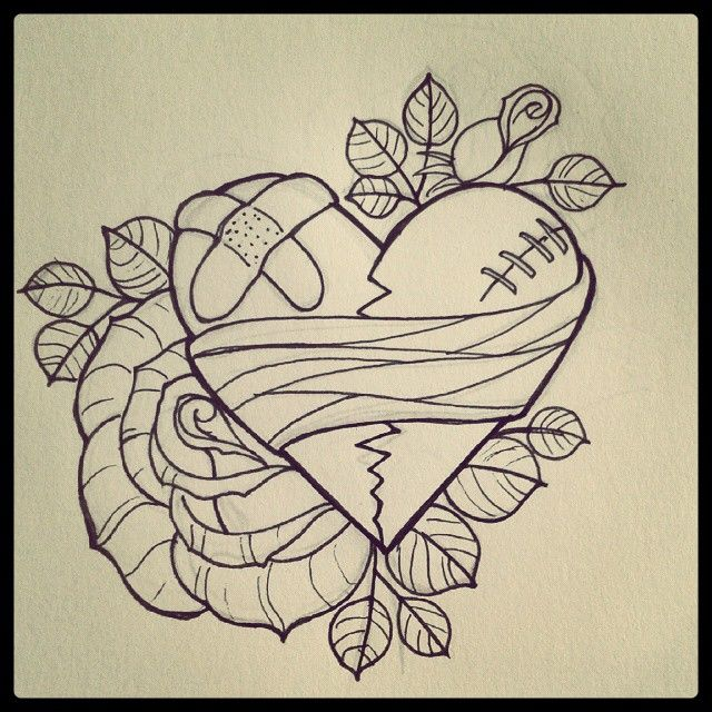 Broken Heart Tattoo Design Meaning (206)