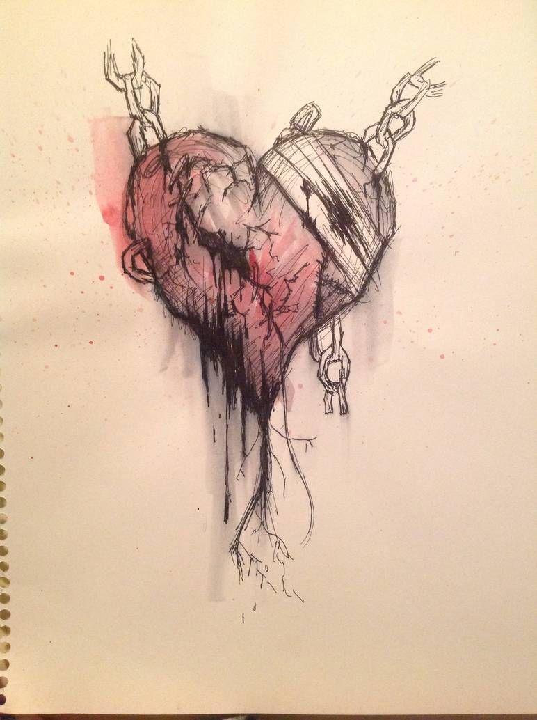 Broken Heart Tattoo Design Meaning (209)