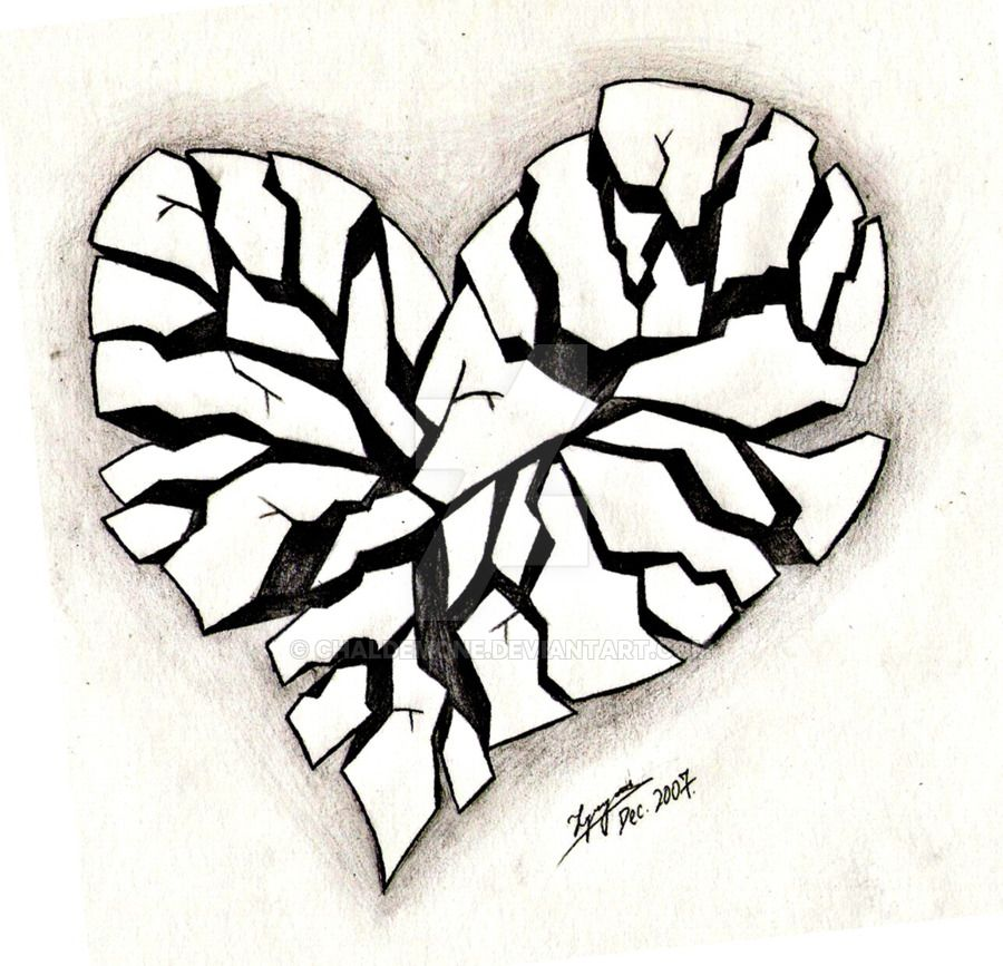 Broken Heart Tattoo Design Meaning (225)