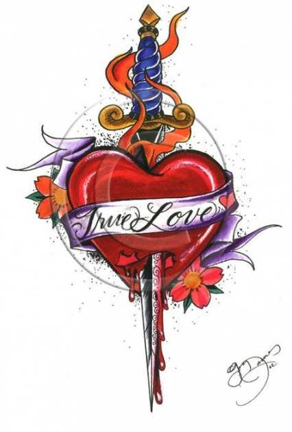 Broken Heart Tattoo Design Meaning (28)