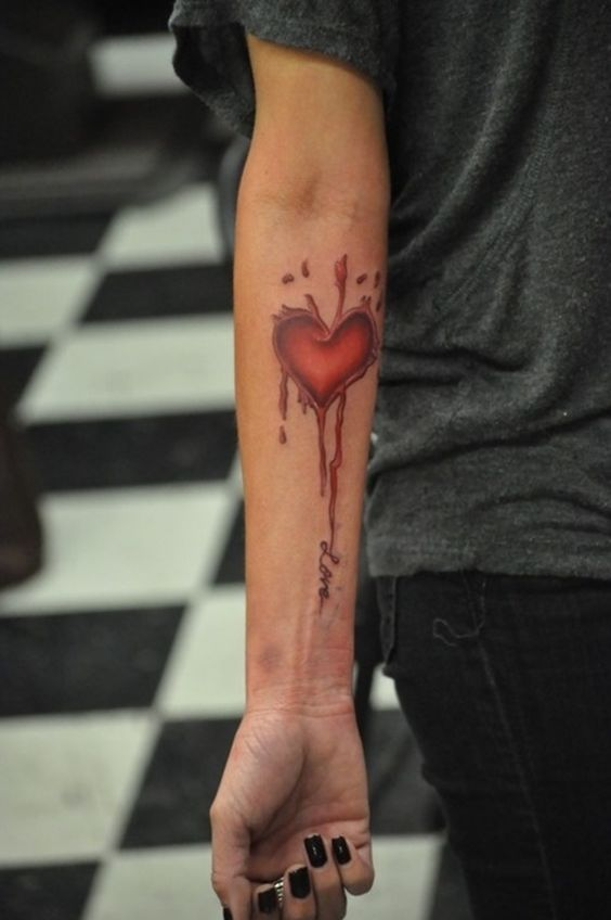 Broken Heart Tattoo Design Meaning (71)
